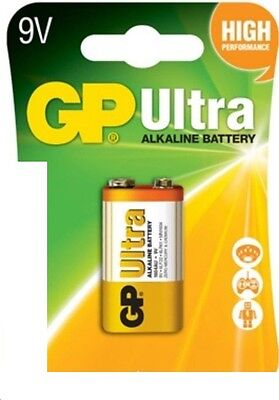 3 x GP ULTRA 9V Batteries MN1604 6LR61 PP3 BLOCK 6LF22 ALKALINE