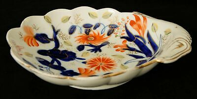 Scallop Shaped Serving Dish with Floral Pattern Like Spode