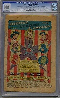 Brave And The Bold #28 Cgc Ng Coverless