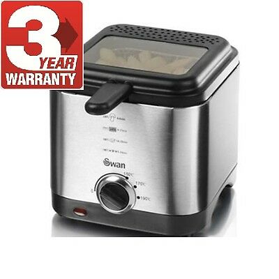 New Swan Small Deep Fat Chip Fryer - Stainless Steel 1.5L SD6060N