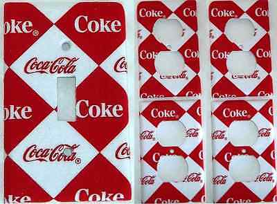 Coca Cola # 2 Light Switch Cover Kitchen Dining Wall Decor Set of 5 Coke Soda