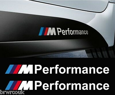 BMW F30 M Performance x2 Side Skirt Decals Sticker Vinyl Graphics 3 Series