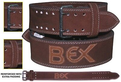 Bex Leather Power Belt Weight Lifting Back Support Nubuck Gym Dip Training Strap