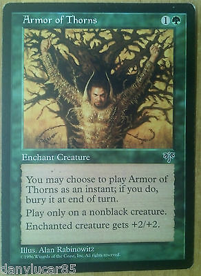 Magic Armor Of Thorns English Enchant Creature Common Green Mirage