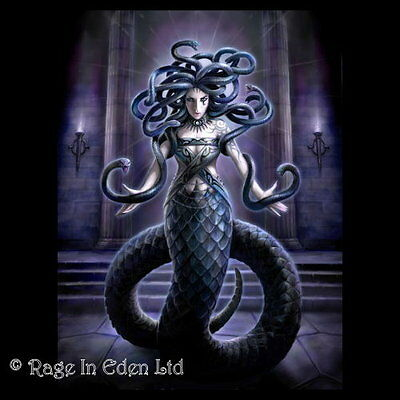 *SERPENT'S SPELL* Fantasy Medusa Art 3D Picture By Anne Stokes (40x30cm approx)