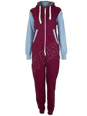Kids Boys Girls Football Kit Villa West Ham Onesie Fleece All In One Jumpsuit