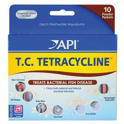 API T.C. TETRACYCLINE Treats Bacterial Fish Disease FRESHWATER Aquarium