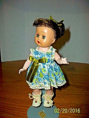 1950's Nancy Ann Storybook 8 inch Strung SLW Muffie Branded in Original Outfit B