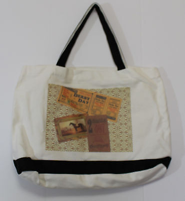 THOROUGHBRED HORSE RACING tote bag one of a kind