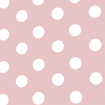 Baby Pink with White Dots Wrapping paper, Counter roll, Gift wrap, 500mm x 50m