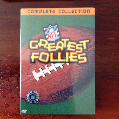 NFL GREATEST FOLLIES Complete Collection 2 DVD Set New Sealed Gridiron Box Set
