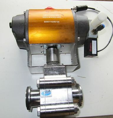 A&N Pneumatic rotary actuator Model: 1539-S-N with Ball valve