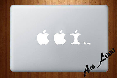 Macbook Air Pro Vinyl Skin Sticker Decal Apple Eating Evolution Funny M105W