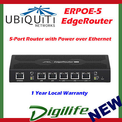 Ubiquiti EdgeRouter POE 5-Port Router Power over Ethernet Gigabit Router ERPoe-5