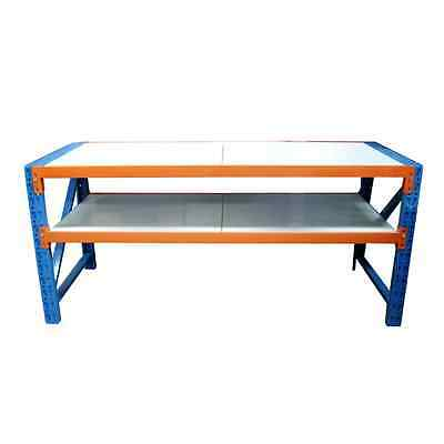 2m x 0.6m Work Bench Garage Warehouse Metal Storage Pick-Up or Deliver NEW