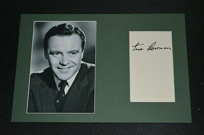 JACK LEMMON signed Autogramm In Person 20x30 cm Passepartout rar !!