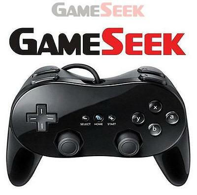 Classic Controller Pro For Nintendo Wii (Black) - Nintendo Wii Brand New