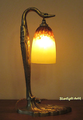 Beautiful French Art Nouveau Table Lamp 1920 - Signed: C. Rank And Schneider