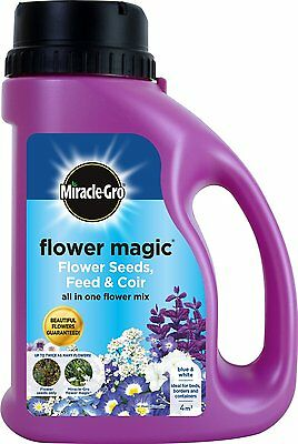 Miracle-Gro 1kg Flower Magic Flower Seeds with Feed and Coir Mix Jug