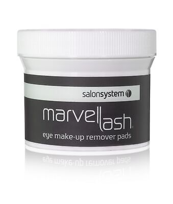 Salon System Marvelash Eye Make-up Remover Pads (75) Oil Free Prepares Lashes