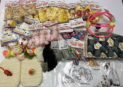 Cat Toys Lot Of 100 Catnip Mouse Cloth Scratch Pad Kitten New Wholesale Surplus