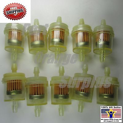 Motorcycle Scooter Gasoline Filter Clear Inline Gas Fuel 10pcs 1/4'' 6-7mm Hose
