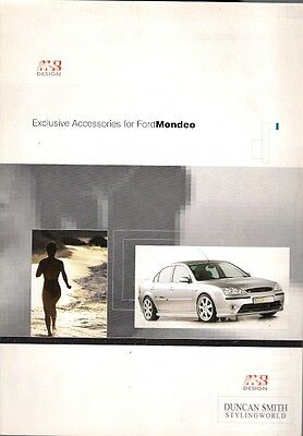 Ford Mondeo MS Design Body Styling Accessories 2002-03 UK Market Brochure