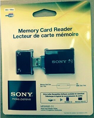 Genuine Sony MRW68E-D1 USB Card Reader for Memory Stick Duo, Pro Duo & Micro