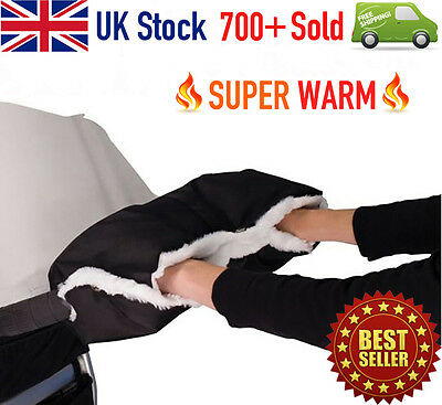 Winter Pushchair WARMER Gloves Pram Hand Muff Waterproof Stroller Accessory Gift