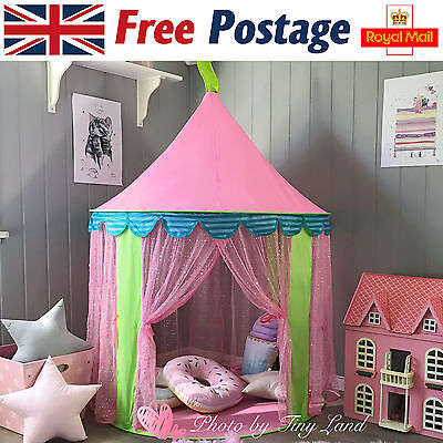 Children/Kids Pink Pop-Up Castle Play-Tent Play-House Indoor/Outdoor Garden Girl