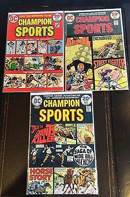 Champion Sports (1973) #1 2 3 Complete Set Dc Comics