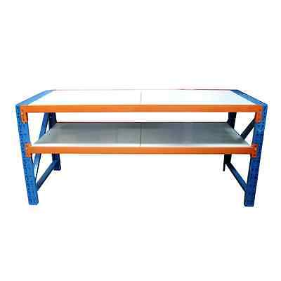 2m x 0.8m Work Bench Garage Warehouse Metal Storage Pick-Up or Deliver NEW