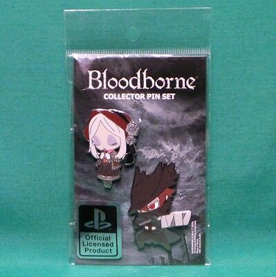 Bloodborne Collectible Enamel Pin Set Hunter & Doll SEALED Officially Licensed