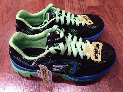 NEW Boys Skechers Go Run Ride Supreme Shoes Black Blue Green Size 11 12.5 2.5