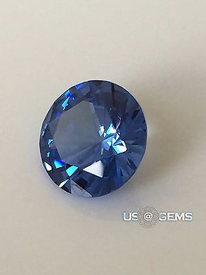 Swiss Spinel. Aquamarine bluish dark. Round 8 mm. 2 ct. US@GEMS
