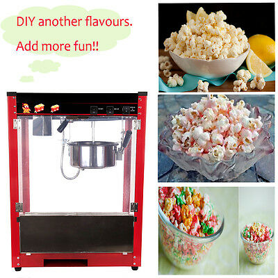 Electric Popcorn Machine Popper Maker 8oz 1370W Kettle 1Pan/2min EU Plug