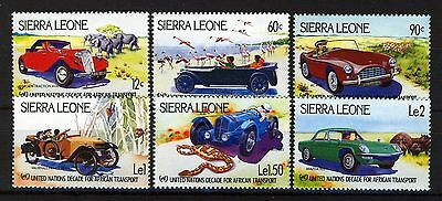 Sierra Leone 1984 UN African Transport car set 6v MNH