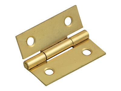 Forge FGEHNGBTBP40 Butt Hinge Brass Finish 40mm (1.5in) Pack of 2