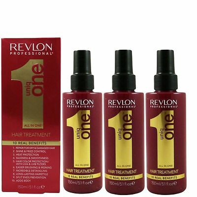Revlon uniq one all in one 10 in 1 Behandlung Hair Treatment 3 x 150 ml Set TOP