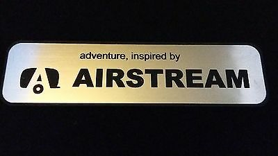 Airstream Badge self Adhesive brushed aluminium