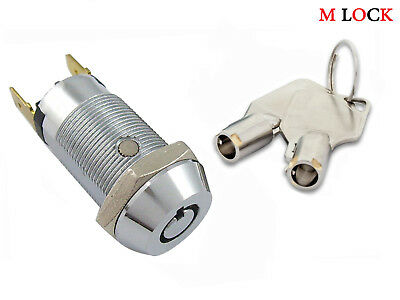 Key Switch Lock Momentary Spring return Tubular Garage Safe Alarm keyed alike