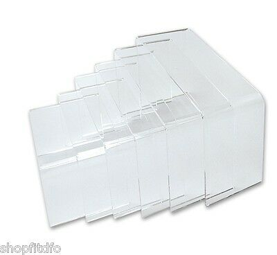 Set of Six (6) Clear Acrylic Display Risers
