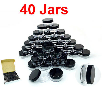 40 Packs 10 Gram/10ML High Quality Makeup Cream Cosmetic Sample Jar Containers