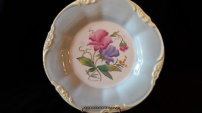 Vintage Coalport Signed D. Simmin England #2 Sweet Pea Patterned Plate