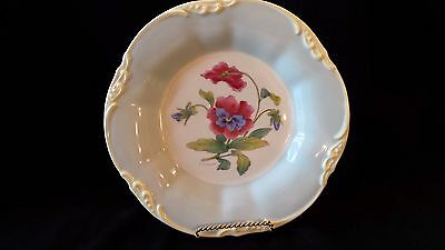 Vintage Coalport Signed D. Simmin England #11 Pansy Patterned Plate