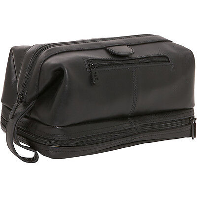AmeriLeather Leather Toiletry Bag 5 Colors Toiletry Kit NEW