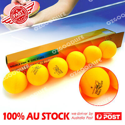 6 x Double Fish 1-Star 40mm orange Table Tennis Balls are high quality AU stock