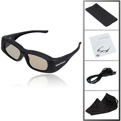 4X Rechargeable 3D Active Shutter Glasses IR Bluetooth for Panasonic Samsung LG