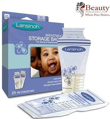 Lansinoh Breast milk Storage Bags 25 **Brand New**