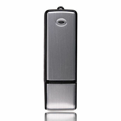 NEW USB MEMORY STICK Rechargeable 8GB HQ 650Hr sound Voice Recorder Pen Silver